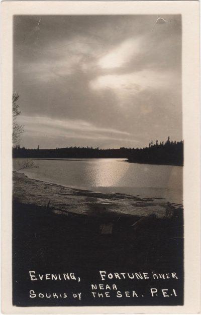 , Evening, Fortune River near Souris by the Sea, P.E.I. (0578), PEI Postcards