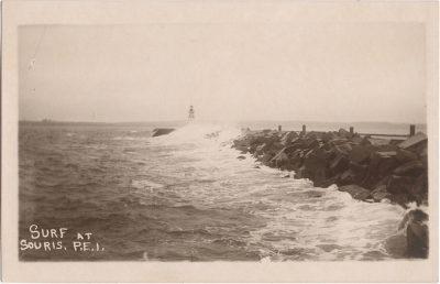 , Surf at Souris, P.E.I. (0571), PEI Postcards