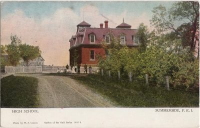 , High School Summerside, P.E.I. (0565), PEI Postcards