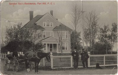 , Senator Yeo's Residence, Port Hill, P.E.I. (0567), PEI Postcards