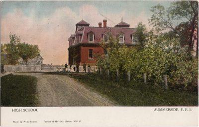, High School, Summerside, P.E.I. (0564), PEI Postcards