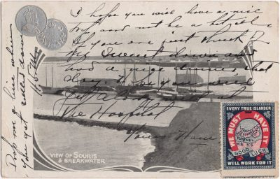 , View of Souris & Breakwater (0579), PEI Postcards