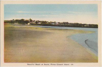 , Beautiful Beach at Souris, Prince Edward Island. (0561), PEI Postcards