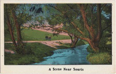 , A Scene Near Souris (0560), PEI Postcards