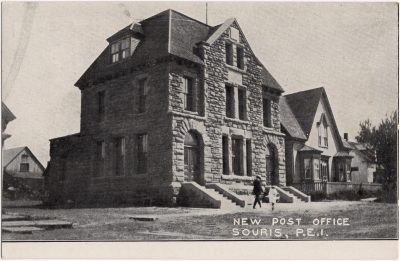, New Post Office, Souris, P.E.I. (0559), PEI Postcards