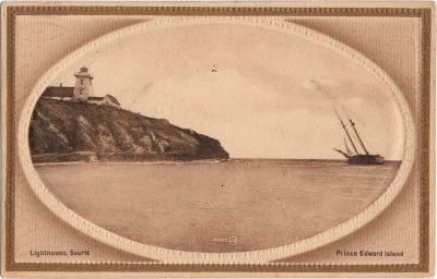 , Lighthouse, Souris Prince Edward Island. (0556), PEI Postcards