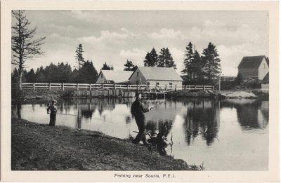 , Fishing near Souris, P.E.I. (0554), PEI Postcards