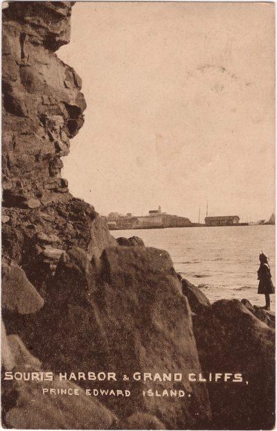, Souris Harbor & Grand Cliffs, Prince Edward Island. (0550), PEI Postcards