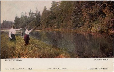, Trout Fishing, Souris, P.E.I. (0551), PEI Postcards