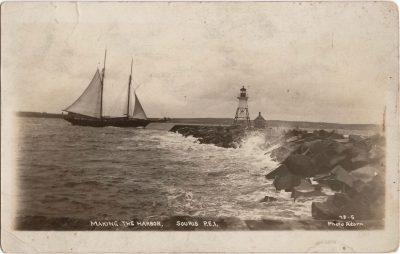 , Making the Harbor Souris P.E.I. (0548), PEI Postcards