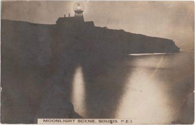 , Moonlight Scene, Souris, P.E.I. (0545), PEI Postcards