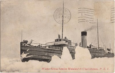 , Winter Service between Mainland & Charlottetown, P.E.I. (0543), PEI Postcards