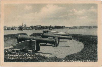 , Prince Edward Island's Capital, Charlottetown. Charlottetown from Fort Edward. (0541), PEI Postcards