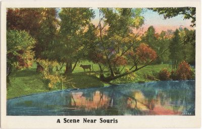, A Scene Near Souris (0612), PEI Postcards