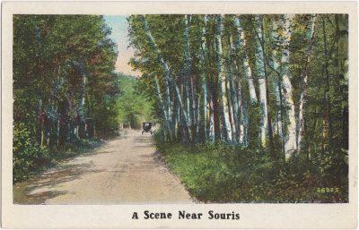 , A Scene Near Souris (0616), PEI Postcards