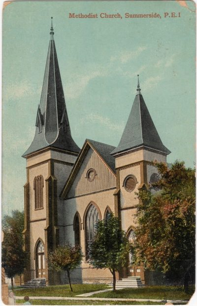 , Methodist Church, Summerside, P.E.I. (0606), PEI Postcards