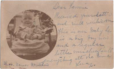 , {photo of baby boy} (0604), PEI Postcards