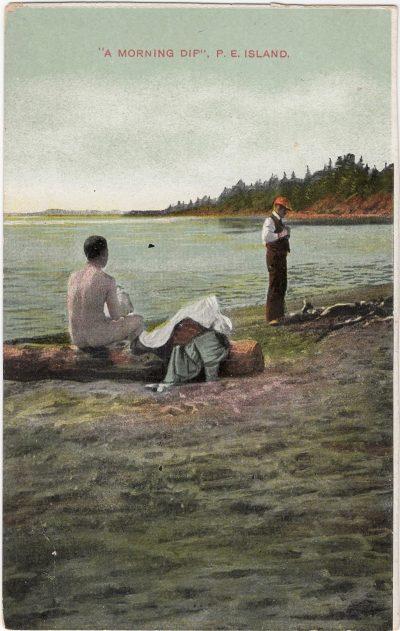 ", ""A Morning Dip"", P.E. Island. (0603), PEI Postcards"