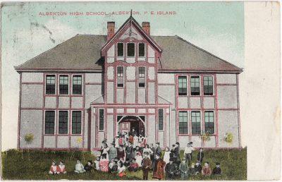 , Alberton High School, Alberton, P.E. Island (0601), PEI Postcards