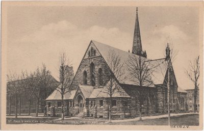 , St. Paul's Anglican Church, Charlottetown, P.E. Island. (0597), PEI Postcards
