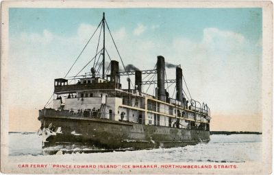 ", Car Ferry ""Prince Edward Island"" Ice Breaker, Northumberland Straits. (0592), PEI Postcards"