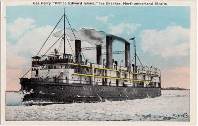 ", Car Ferry ""Prince Edward Island,"" Ice Breaker, Northumberland Straits (0593), PEI Postcards"