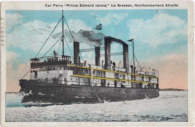 ", Car Ferry ""Prince Edward Island,"" Ice Breaker, Northumberland Straits (0590), PEI Postcards"