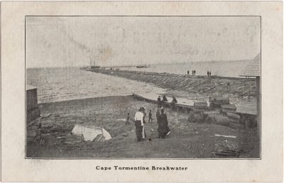 , Cape Tormentine Breakwater (0649), PEI Postcards