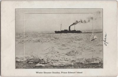 , Winter Steamer Stanley, Prince Edward Island (0644), PEI Postcards