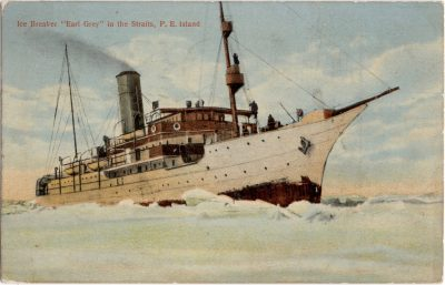 ", Ice Breaker ""Earl Grey"" in the Straits, P.E. Island. (0643), PEI Postcards"