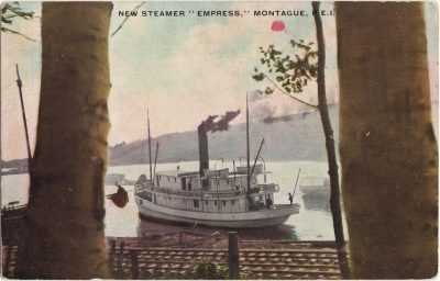 """, New Steamer """"Empress,"""" Montague, P.E.I. (0633), PEI Postcards"""