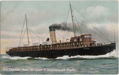 , S.S. Empress, Point du Chene & Summerside Route. (0632), PEI Postcards