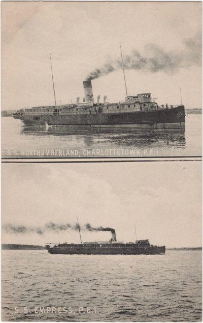 , S.S. Northumberland, Charlottetown, P.E.I.  S.S. Empress, P.E.I. (0629), PEI Postcards