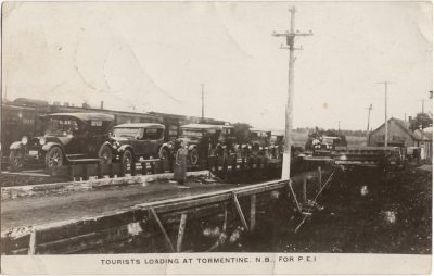 , Tourists Loading at Tormentine N.B. for P.E.I. (0627), PEI Postcards