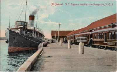 , All Ashore! S.S. Empress about to leave Summerside, P.E.I. (0622), PEI Postcards