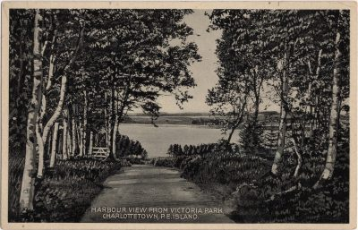 , Harbour View from Victoria Park, Charlottetown, P.E. Island. (0143), PEI Postcards
