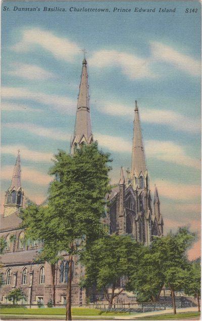 , St. Dunstan's Basilica, Charlottetown, Prince Edward Island (0145), PEI Postcards