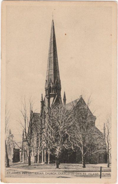, St. James Presbyterian Church, Charlottetown, P.E. Island. (0153), PEI Postcards