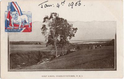 , Golf Links, Charlottetown, P.E.I. Jan 4th 1906. (0132), PEI Postcards
