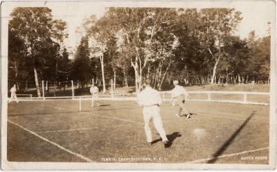 , Tennis, Charlottetown, P.E.I. (0134), PEI Postcards