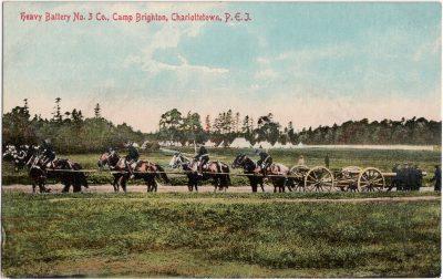 , Heavy Battery No. # Co., Camp Brighton, Charlottetown, P.E.I. (0129), PEI Postcards