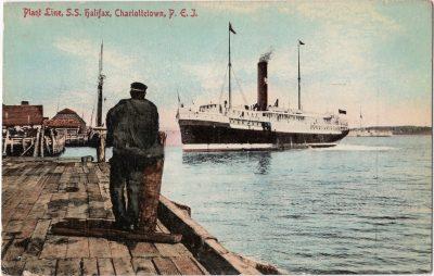 , Plant Line, S.S. Halifax, Charlottetown, P.E.I. (0172), PEI Postcards