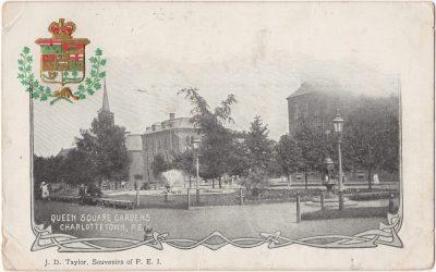 , Queen Square Gardens Charlottetown, P.E.I. (0169), PEI Postcards
