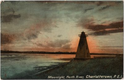 , Moonlight, North River, Charlottetown, P.E.I. (0164), PEI Postcards