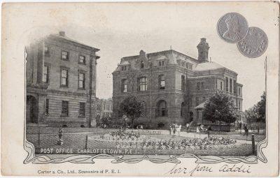 , Post Office Charlottetown, P.E.I. (0161), PEI Postcards