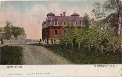 , High School Summerside, P.E.I. (0158), PEI Postcards