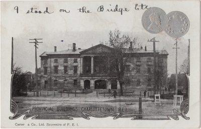 , Provincial Buildings, Charlottetown, P.E.I., (0155), PEI Postcards