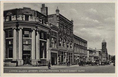 , Upper Queen Street, Charlottetown, Prince Edward Island (0207), PEI Postcards