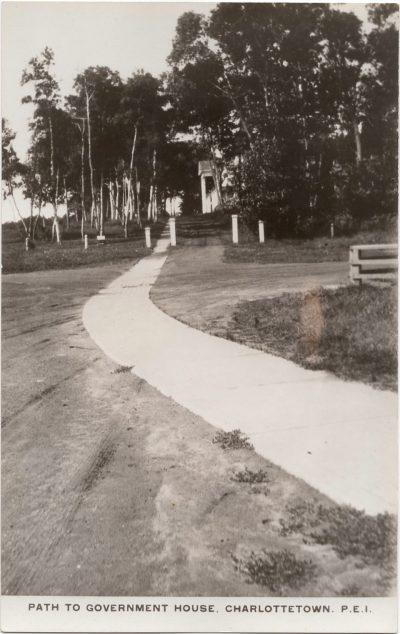 , Path to Government House, Charlottetown, P.E.I. (0185), PEI Postcards