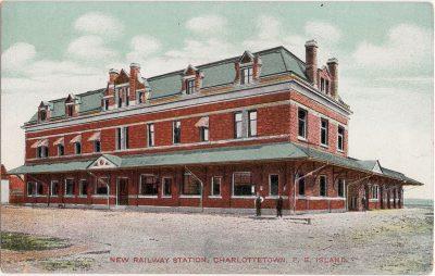 , New Railway Station, Charlottetown, P.E. Island (0200), PEI Postcards